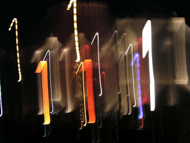"""Foto aus der Galerie """"Experimente"""", Titel: Lichtmalerei """"Die 1″"""