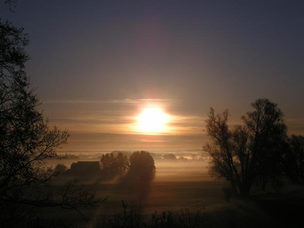 """Foto aus der Galerie """"Landschaft"""", Titel: Am Morgen geht die Sonne auf"""